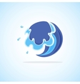 Blue Cartoon Wave vector image