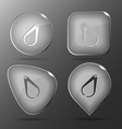 Caliper Glass buttons vector image vector image