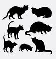 Cat pet animal silhouette vector image vector image