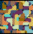 classic polka dot pattern in a patchwork collage vector image vector image