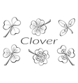 Clover Leaves Pictogram Set vector image vector image