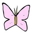 Comic cartoon butterfly symbol