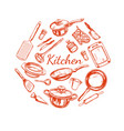 cooking and kitchen utensil set vector image