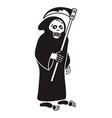 Death with scythe icon simple style
