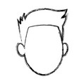 default face head man male character image vector image vector image