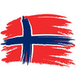 flag of norway brush painted flag of norway hand vector image vector image