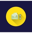 Flat letter icon vector image vector image