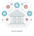 Flat line Business Stock Market Deals Concept vector image vector image