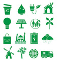 Go green ecology icons set vector image vector image