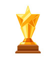 gold prize icon with star vector image vector image