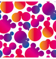 gradient fluid bubbles seamless pattern vector image