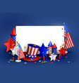 happy independence day usa 4th july vector image