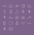 icons set in flat style vector image vector image