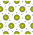 kiwi fruit slices seamless green pattern on white vector image vector image