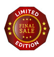 limited edition badge vector image vector image