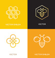 logo and packaging design templates in trendy vector image