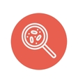 Microorganism under magnifier thin line icon vector image vector image