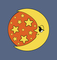 moon and stars night vector image