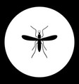 mosquito insect simple black and green icon eps10 vector image vector image