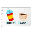 Opposite adjectives with cold and hot vector image vector image