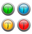 palms icon on glass buttons vector image