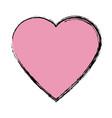 pink heart love romantic symbol vector image vector image