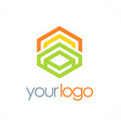 polygon geometry color business logo vector image vector image