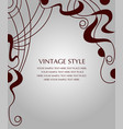 postcard with abstract pattern vector image vector image