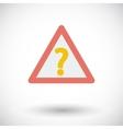 Question single icon vector image vector image