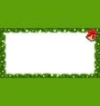 realistic fir-tree sparkling rectangle border vector image