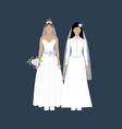 same sex wedding vector image vector image