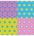 seamless colorful floral pattern set vector image vector image
