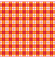 Seamless Gingham Red and Orange vector image