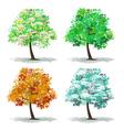 set abstract tree vector image vector image