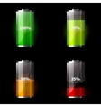 set battery icons vector image vector image