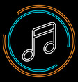 simple music thin line icon vector image vector image
