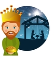 three wise kings manger design design vector image vector image
