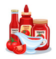tomato sauce ketchup vector image vector image