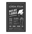 Vintage graduation party invitation card vector image