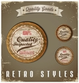 Vintage Labels template set Retro logo design vector image vector image