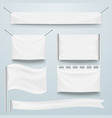 white clear textile banner and flags template set vector image vector image