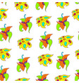 bright abstract floral pattern vector image