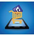 mobile music shopping cart technology vector image
