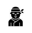 ninja - japanese icon black vector image