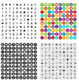 100 hairdresser icons set variant vector image vector image