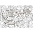 a moray in zentangle style vector image vector image