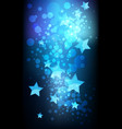 abstract stars on dark background vector image vector image
