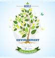 abstract tree for world environment day vector image vector image