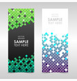 banner with colorful squares vector image vector image