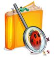 Book worm vector image vector image